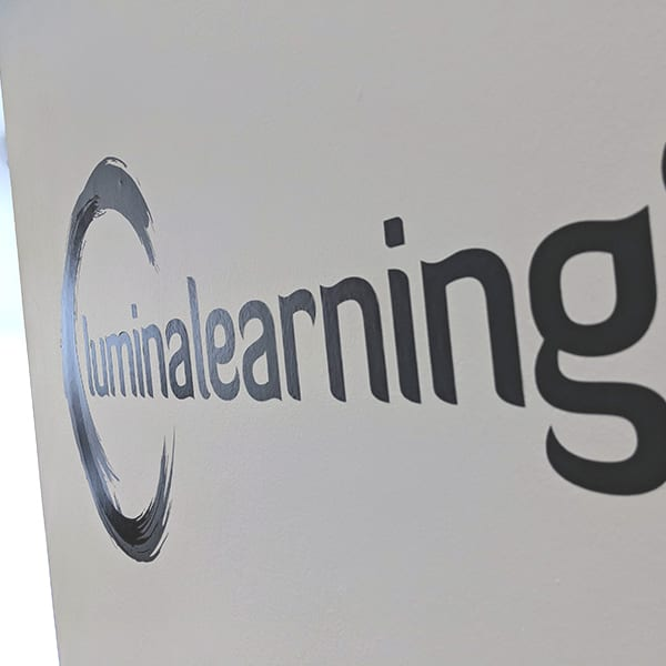 lumina learning office wall logo